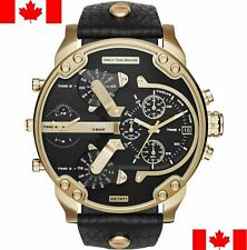 Diesel DZ7371 Mr. Daddy 2.0 Black Dial Leather Strap Men's Chronograph Watch