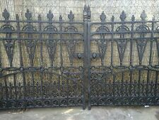 12 ft Cast Iron Gates, Iron Driveway Gates , 12 ft opening Gates only no posts