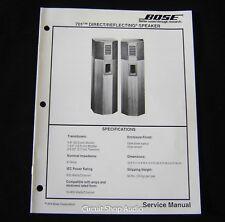 Original Bose 701 Direct/Reflecting Loudspeaker System Service Manual