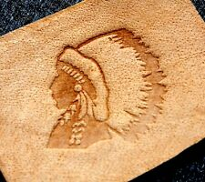 INDIAN CHIEF Leather Embossing / Clicker Stamp, Delrin / Acetal, NEW #006