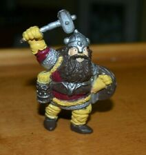 D&D Advanced Dungeons And Dragons 3 Dwarves Mountain King Hammer PVC Vintage LJN