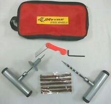 Bike & Car Tire Tubeless Tyre Puncture Plug Repair Kit cutter With Carry Case