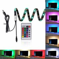 LED Lights Behind Monitor TV Backlight Strip Bias Kit Multi Color Remote Control