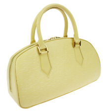 Authentic LOUIS VUITTON Jasmin Hand Bag Epi Vanilla M5208A EXCELLENT AK16545