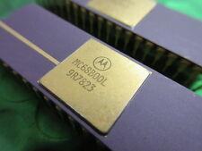 MC68B00L, MC68B00P COLLECTABLE  MICROPROCESSOR PURPLE CERAMIC GOLD TOP & LEGS