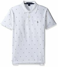 U.S. Polo Assn. Mens Big and Tall Printed Short Sleeve Classic Fit Pique