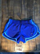 Nike Rival Dri Fit Sporty 2 in 1 running Shorts Womens Gym Athletic Track Blue