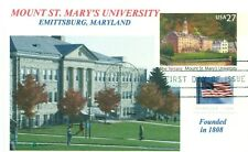 MOUNT ST. MARY'S UNIVERSITY Maryland Color Photo Cachet UX-533 First Day PM