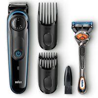 Braun Men's Beard Trimmer Shaver Styler & Gillette Fusion ProGlide Razor, BT3040