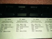 2x AGILENT MSA1105STR , MSA-1105-STR , RF MMIC AMPLIFIER 12.7DB 3GHz 6.6V, SMD-4