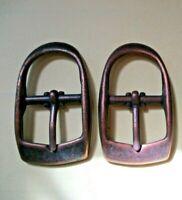19 mm breit Bronzefarben 2x Schuhschnalle Taschenschnalle Gürtelschnalle