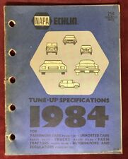 1984 NAPA Echlin TUNE-UP Specs Shop Manual for Passenger Cars, Trucks/Tractors