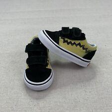 Vans Charlie Brown Peanuts Old Skool Kids Shoes Black Size 4 Toddler Sneakers