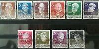 Berlin 1952 Männer aus Berlin gestempelt Mi.Nr:91-100