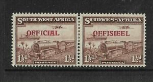 South West Africa 1 1/2d Mint Official Pair