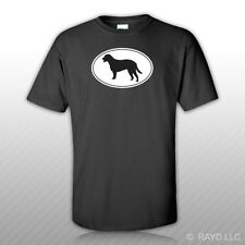 Curly Coated Retriever Euro Oval T-Shirt Tee Shirt Free Sticker dog canine pet
