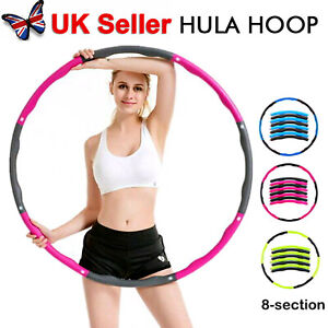 8 knots Collapsible Weighted Hula Hoop Fitness Workout Gym Exercise ABS Padded
