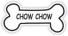 Chow Chow Hueso pegatina nombre de raza De Perro Plato de comida de Cachorro Mascota Etiqueta del vinilo