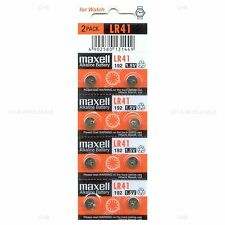 8 NEW MAXELL LR41 AG3 392A 192 SR41 LR736 CX41 392 BATTERY