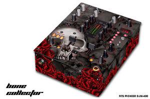 Skin Decal Wrap for PIONEER DJM-400 DJ Mixer CD Pro Audio DJM400 Parts - BONE BK