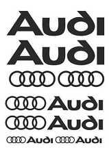 Kit de 10 Sticker Autocollant Audi Noir a02