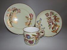 Antique Royal Worcester Hand Painted Floral Tea Cup Trio. W2019. c1888 (A)