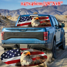 """58x18"""" American Eagle Flag Rear Window Graphic Decal Sticker Fore Truck SUV Jeep"""