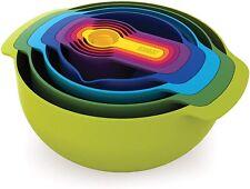 Joseph Joseph Nest Plus 9 Piece Compact Food Preparation Multicolour Mixing Bowl