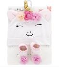 Unicorn Baby Girl Hat  Socks Set NWT Rising Star 0-12 Months