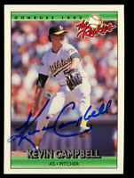 Kevin Campbell #21 signed autograph auto 1992 Donruss The Rookies Baseball Card