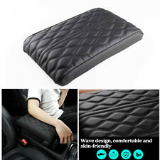 Universal Car Center Console Seat Armrests Protection Cushion Black PU Leather