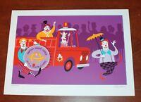 Josh Agle SHAG Art Print Shriner Clown Parade 2007 Serigraph Art S# 300 Shriners