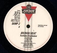 "Bronski Beat(Promo 12"" Vinyl)Truthdare Doubledare-London-SAMP 2-UK-1986-VG/VG+"