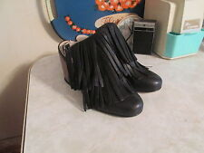 "OUIGAL Grace"" black /copper leather sling back heel shoes  sz 37  US 7 NWOB"