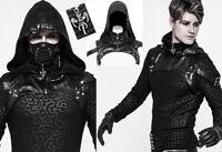 Harnais capuche veste gothique punk steampunk bondage cuir sangle PunkRave Homme