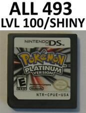 Pokemon Platinum Game Unlocked Nintendo DS lite DSi XL 3DS All 493 Shiny Forms