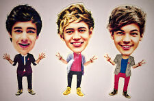 3 ONE DIRECTION PHOTO BOOKMARK SET FUNNY CUTE LOUIS TOMLINSON NIALL HORAN LIAM