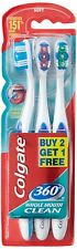 Colgate Toothbrush 360 Degree Whole Mouth Clean (Pack of 3)