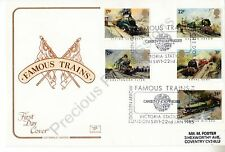 COTSWOLD FDC COVER 1985 FAMOUS TRAINS STICKER ADDRESS