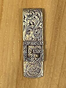Gucci Men's Decorative Square G Logo Money Clip in Sterling Silver