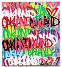 CHRIS RIGGS OAKLAND PAINTING SIGNED ORIGINAL STREET MODERN CONTEMPORARY NYC