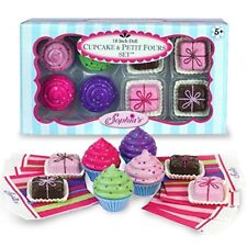 Doll Play Food Pretend Cupcakes Napkins Petit Fours Kids Toddler Toy Girl New