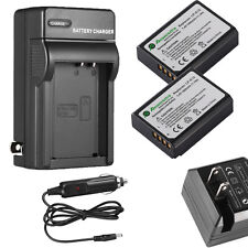 2pack LP-E10 Battery + Charger For Canon Rebel T3 T5 T6 Kiss X50 EOS 1100D 1200D