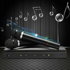 2x Pro Wireless Cordless DJ Karaoke Mic Microphone System Public Wedding Speech