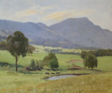 Henry Hanke 1901-1989 Superb Original Australian Oil Painting Cows Trees SFAA