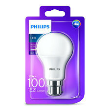 1x Philips LED Frosted B22 100w Warm White Bayonet Cap Light Bulb Lamp 1521lm