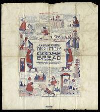 1920 Mother Goose Bread Wrapper, Saniwax Paper Co, JB Henry & Son Bakery, Elmira