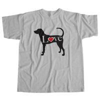 I Love Treeing Walker Coonhound English Dog Pet Lover Puppy Unisex Tee T-Shirt