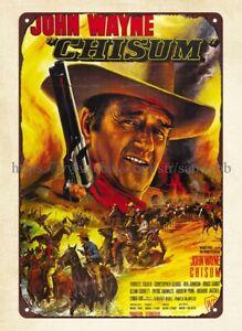 Chisum John Wayne movie poster metal tin sign metal collectibles signs