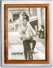 "Nambe Hayden Acacia Wood Picture Frame - Holds One 5"" x 7"" Photo - Natural"